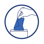 Utiliser un mouchoir à usage unique et le jeter