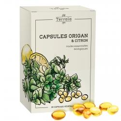 Capsules essentielles Origan et citron